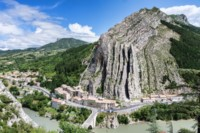 sisteron start of part 2 alpine provence trek